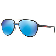 Buy Prada Linea Rossa PS 52SS Aviator Sunglasses Online at johnlewis.com