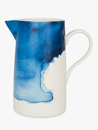 Rick Stein Coves of Cornwall Harlyn Bay Jug, Blue/White, 2L