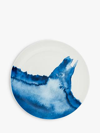 Rick Stein Coves of Cornwall Hawker's Cove Side Plate, 21cm, Blue/White