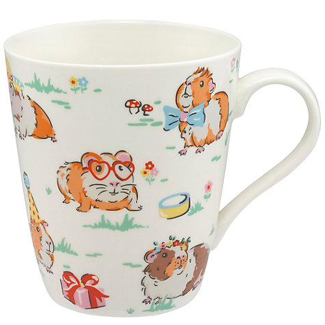 buy cath kidston guinea pigs pets party mug multi 475ml john lewis. Black Bedroom Furniture Sets. Home Design Ideas