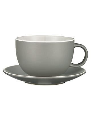 John Lewis Partners Puritan Cup And Saucer Grey 375ml