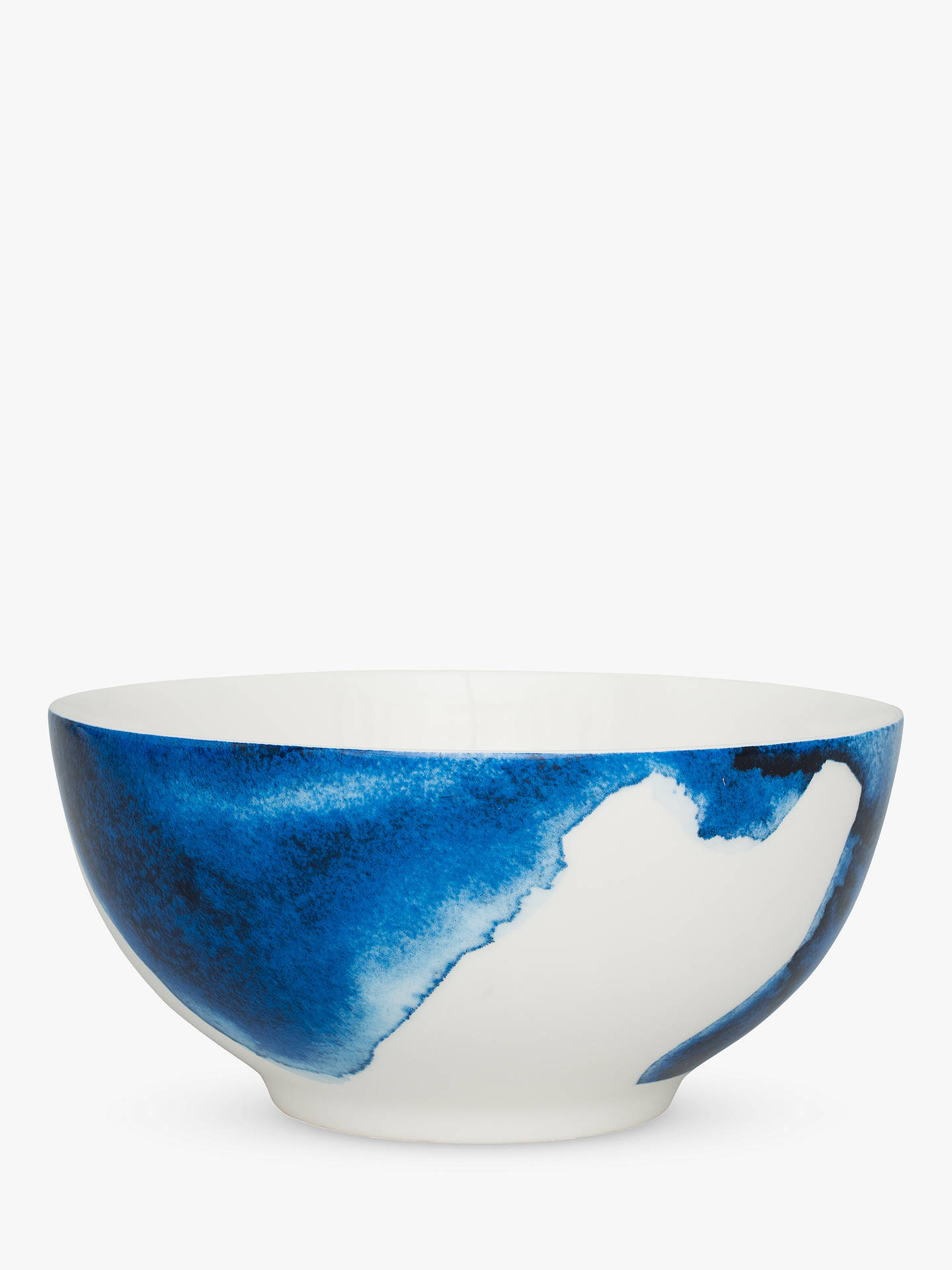 BuyRick Stein Coves of Cornwall Trevone Bay Salad Bowl, Blue/White, Dia.21cm Online at johnlewis.com