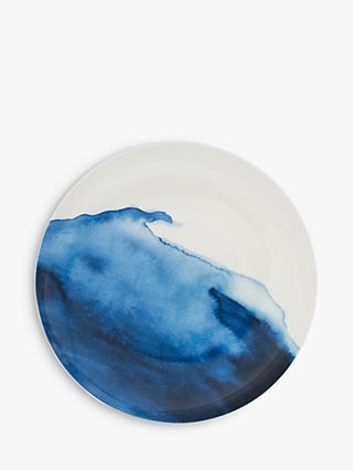 Rick Stein Coves of Cornwall Constantine Bay Dinner Plate, 28cm, Blue/White