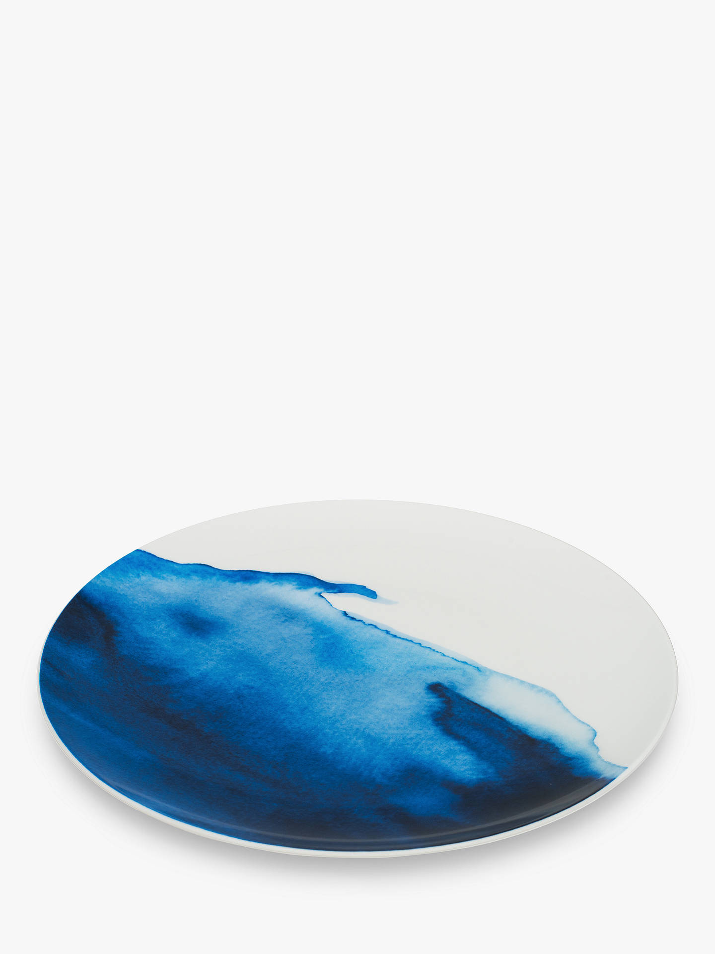 Buy Rick Stein Coves of Cornwall Constantine Bay Dinner Plate, Blue/White, Dia.28cm Online at johnlewis.com