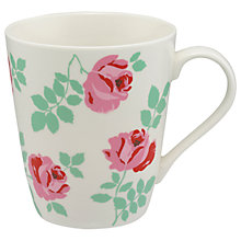 Buy Cath Kidston Brooke Rose Stanley Mug, Cream/Multi, 475ml Online at johnlewis.com