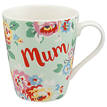 Buy Cath Kidston Wells Rose Mum Mug, Soft Mint, 475ml Online at johnlewis.com