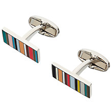 Buy Paul Smith Mini Stripe Cufflinks, Multi Online at johnlewis.com
