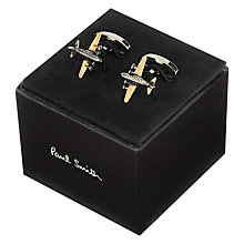 Buy Paul Smith Aeroplane Cufflinks, Silver/Gold Online at johnlewis.com