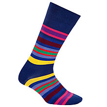 Buy Paul Smith Kew Stripe Socks, One Size, Blue Online at johnlewis.com