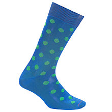 Buy Paul Smith Bright Spot Socks, One Size, Blue/Green Online at johnlewis.com