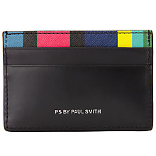 Buy Paul Smith Rainbow Stripe Card Holder, Black Online at johnlewis.com