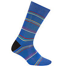 Buy Paul Smith Fine Stripe Socks, One Size, Blue Online at johnlewis.com