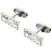 Buy Paul Smith Letter Cufflinks, Silver Online at johnlewis.com