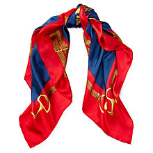 Buy Lauren Ralph Lauren Francesca Scarf, Navy/Red Online at johnlewis.com
