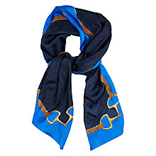 Buy Lauren Ralph Lauren Montse Silk Scarf, Navy/Blue Online at johnlewis.com