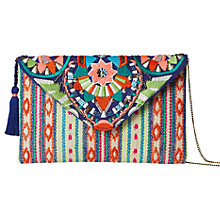 Buy White Stuff Festival Cotton Clutch Bag, Multi Online at johnlewis.com