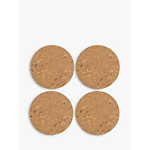 Buy LEON Cork Placemats, Natural, Set of 4 Online at johnlewis.com