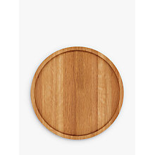 Buy LEON Round Oak Wood Tray, Natural, Dia.30cm Online at johnlewis.com