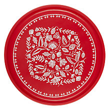 Buy John Lewis Folklore Serving Tray, Red/White Online at johnlewis.com