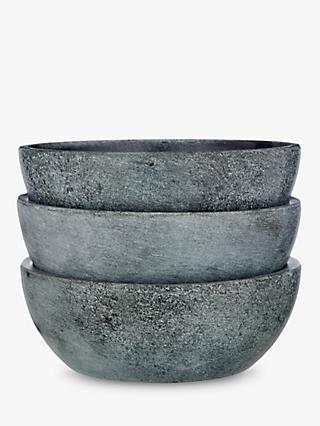 LEON Soapstone Dip Serving Bowls, Set of 3, Dia.9cm