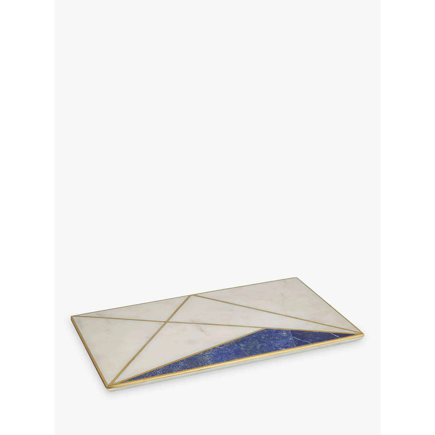 BuyJohn Lewis Marble and Lapis Platter, White/Blue Online at johnlewis.com