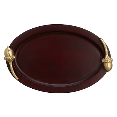 Product photo of John lewis ruskin house wood acorn tray brown gold