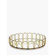 Buy John Lewis Mirrored Drinks Tray, Gold, Dia.30cm Online at johnlewis.com