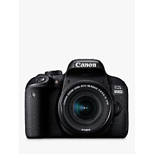 "Buy Canon EOS 800D Digital SLR Camera with EF-S 18-55mm IS STM Lens, HD 1080p, 24.2MP, Wi-Fi, Bluetooth, NFC, Optical Viewfinder, 3"" Vari-Angle Touch Screen Online at johnlewis.com"