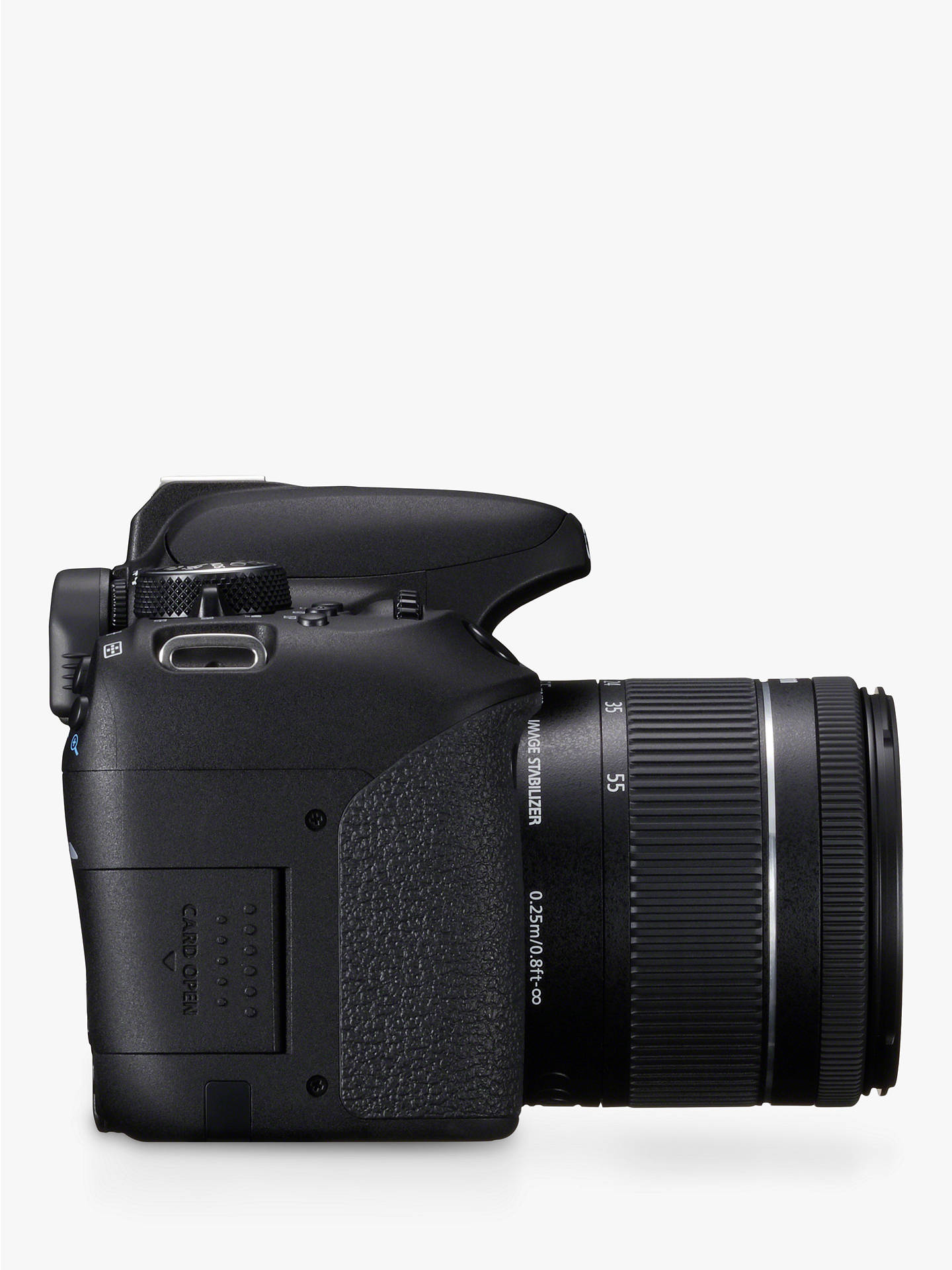 "BuyCanon EOS 800D Digital SLR Camera with EF-S 18-55mm IS STM Lens, HD 1080p, 24.2MP, Wi-Fi, Bluetooth, NFC, Optical Viewfinder, 3"" Vari-Angle Touch Screen Online at johnlewis.com"