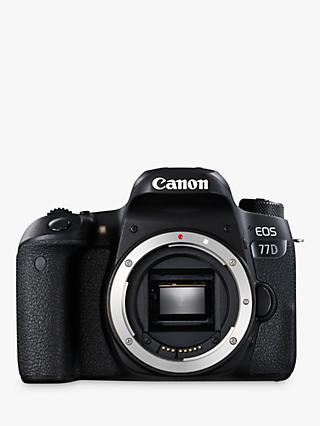 "Canon EOS 77D Digital SLR Camera, HD 1080p, 24.2MP, Wi-Fi, Bluetooth, NFC, Optical Viewfinder, 3"" Vari-Angle Touch Screen, Body Only"
