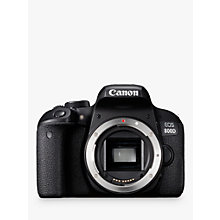 "Buy Canon EOS 800D Digital SLR Camera, HD 1080p, 24.2MP, Wi-Fi, Bluetooth, NFC, Optical Viewfinder, 3"" Vari-Angle Touch Screen, Body Only Online at johnlewis.com"