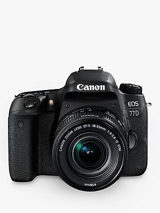 "Canon EOS 77D Digital SLR Camera with EF-S 18-55mm IS STM Lens, HD 1080p, 24.2MP, Wi-Fi, Bluetooth, NFC, Optical Viewfinder, 3"" Vari-Angle Touch Screen"