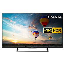 "Buy Sony Bravia KD43XE8005 LED HDR 4K Ultra HD Smart Android TV, 43"" with Freeview HD & Youview, Black Online at johnlewis.com"