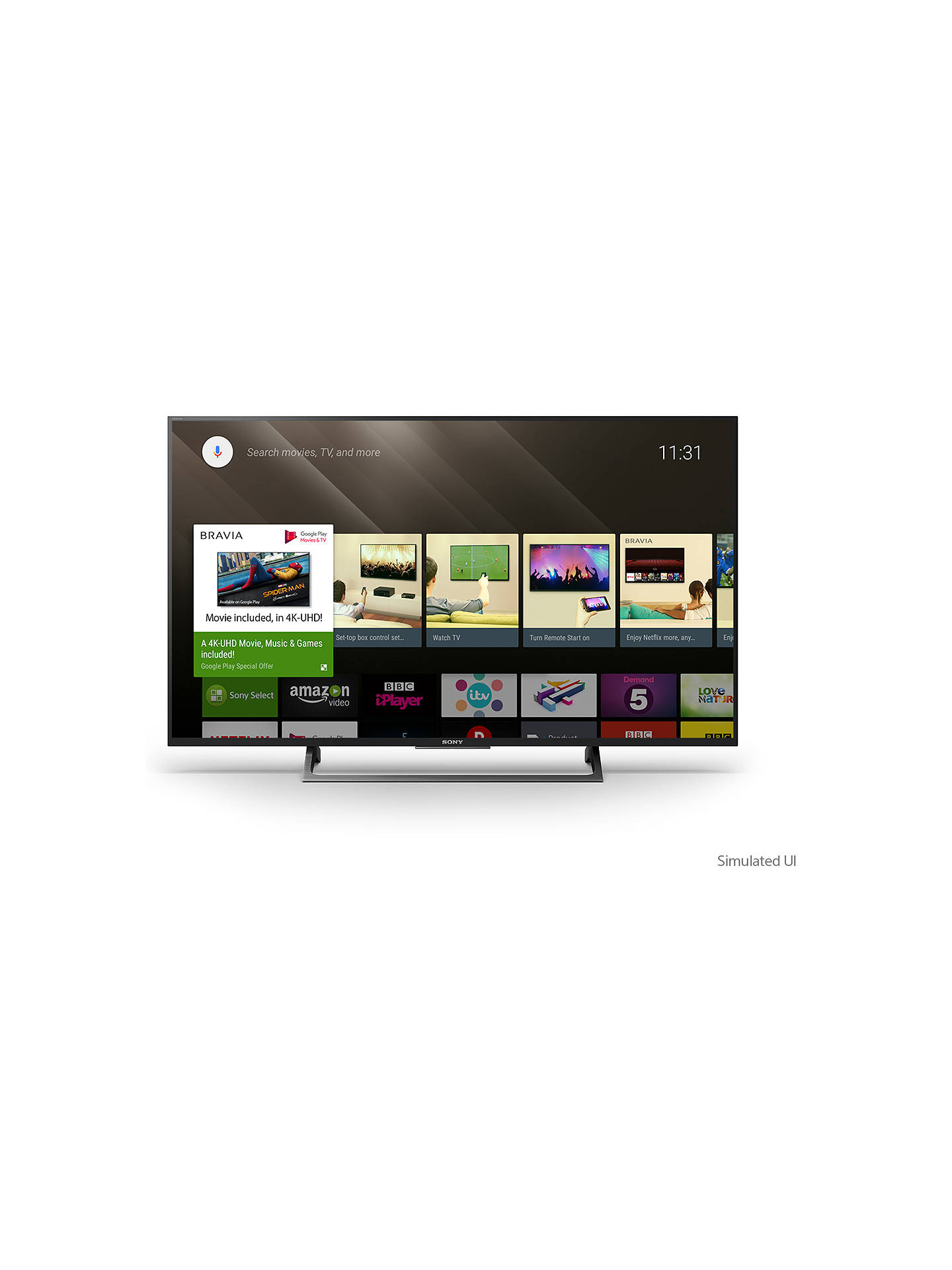 Sony Bravia KD43XE8005 LED HDR 4K Ultra HD Smart Android TV, 43