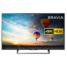 "Buy Sony Bravia 49XE8005 LED HDR 4K Ultra HD Smart Android TV, 49"" with Freeview HD & Youview, Black Online at johnlewis.com"