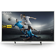 "Buy Sony Bravia KD49XE8005 LED HDR 4K Ultra HD Smart Android TV, 49"" with Freeview HD & Youview, Black Online at johnlewis.com"