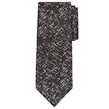 Buy Richard James Mayfair Criss Cross Silk Tie, Black Online at johnlewis.com