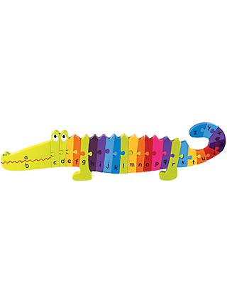 Orange Tree Wooden Alphabet Crocodile Puzzle