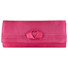 Buy Jacques Vert Curl Trim Clutch Bag, Bright Pink Online at johnlewis.com