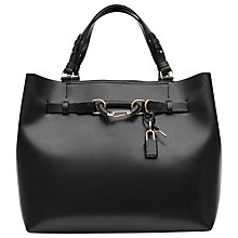 Buy Reiss Bleecker Leather Hardware Detail Tote Bag Online at johnlewis.com