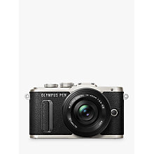 "Buy Olympus PEN E-PL8 Compact System Camera with 14-42mm EZ Lens, HD 1080p, 16.1MP, 3"" LCD Touch Screen Online at johnlewis.com"