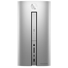 Buy HP Pavilion 570 Desktop PC, AMD A12, 8GB RAM, 2TB HDD, Natural Silver Online at johnlewis.com
