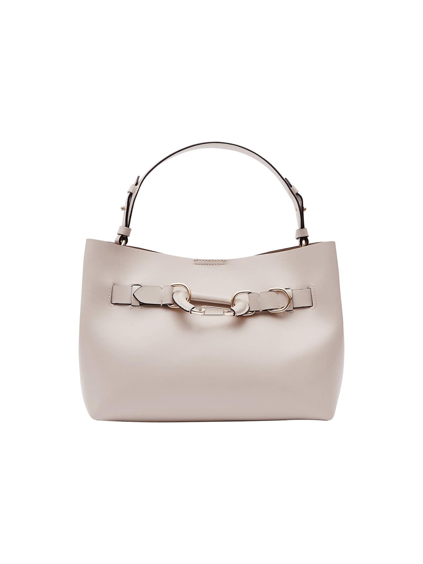 8ffe2186316d Buy Reiss Bleecker Hardware Detail Small Tote Bag, Cream Online at  johnlewis.com ...