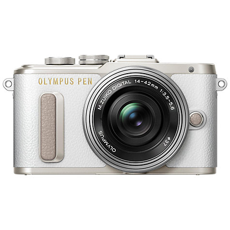 "Buy Olympus PEN E-PL8 Compact System Camera with 14-42mm EZ Lens, HD 1080p, 16.1MP, Wi-Fi, 3"" LCD Touch Screen Online at johnlewis.com"