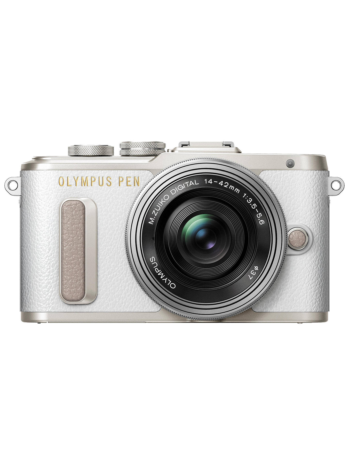 "BuyOlympus PEN E-PL8 Compact System Camera with 14-42mm EZ Lens, HD 1080p, 16.1MP, Wi-Fi, 3"" LCD Touch Screen, White Online at johnlewis.com"