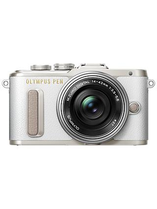 "Olympus PEN E-PL8 Compact System Camera with 14-42mm EZ Lens, HD 1080p, 16.1MP, Wi-Fi, 3"" LCD Touch Screen"