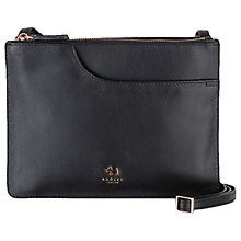 Buy Radley Pockets Leather Medium Across Body Bag, Black Online at johnlewis.com