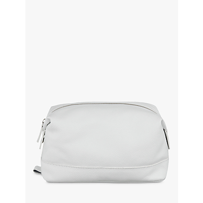 Croft Collection Leather Wash Bag, White