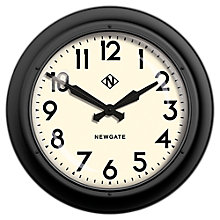 Buy Newgate Giant Electric Wall Clock, Dia.60cm, Matte Black Online at johnlewis.com