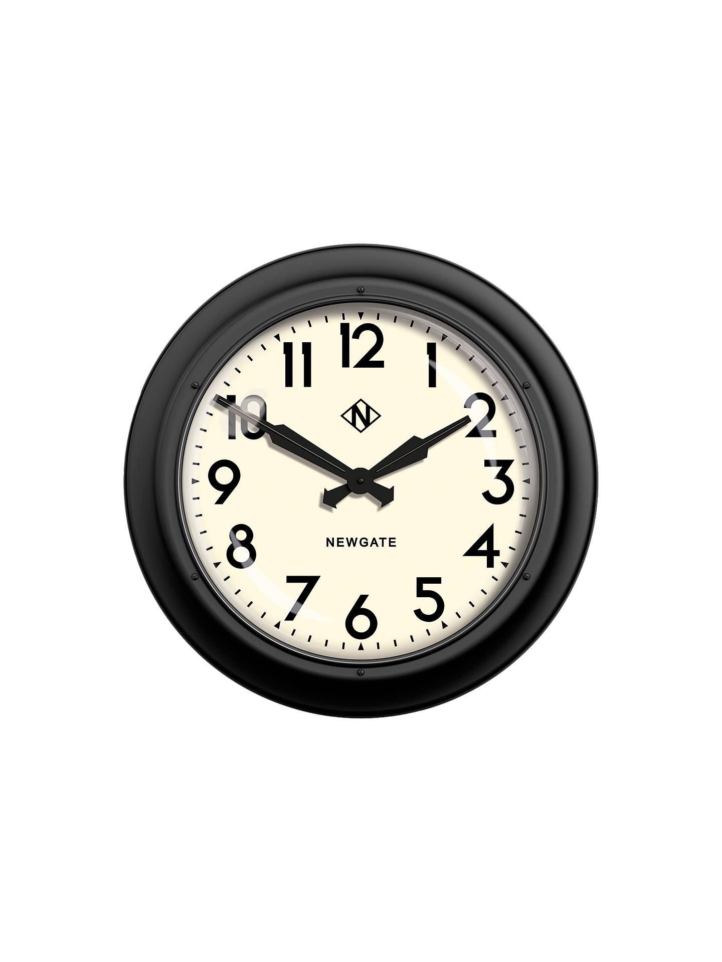 Newgate Giant Electric Wall Clock Dia 60cm Matte Black At